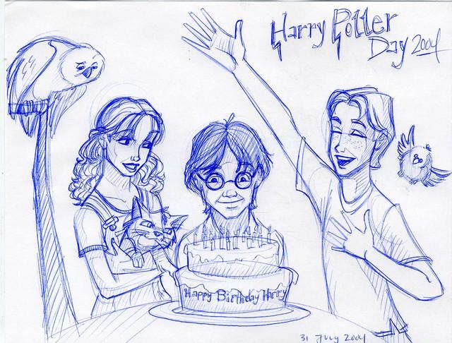 Harry Potter's birthday 2004
