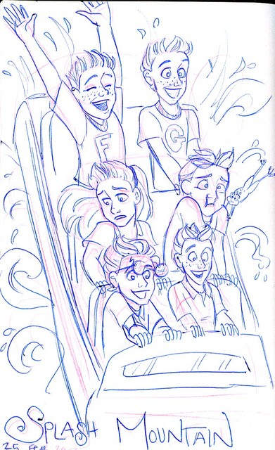Just for fun, what the gang's photo on Splash Mountain might look like
