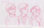 The trio attends Hogwarts University