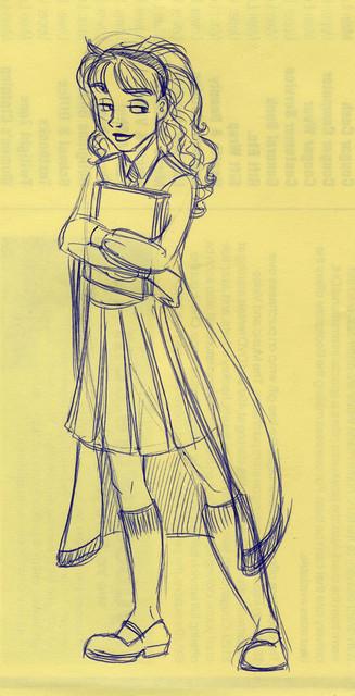 Hermione holds a precious book