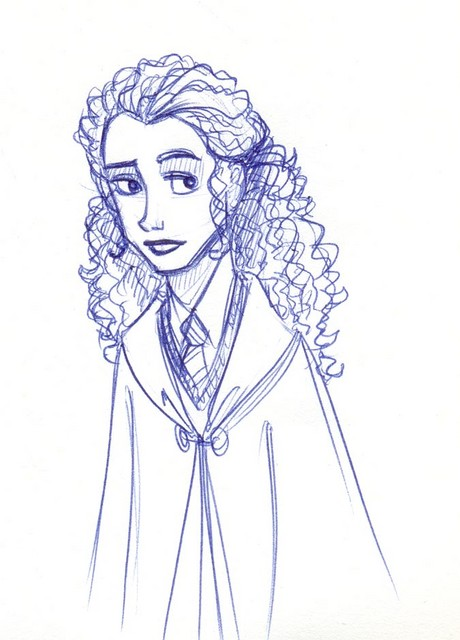 A request someone made for me to draw Hermione with Christine's hair.....  It's okay, I guess.