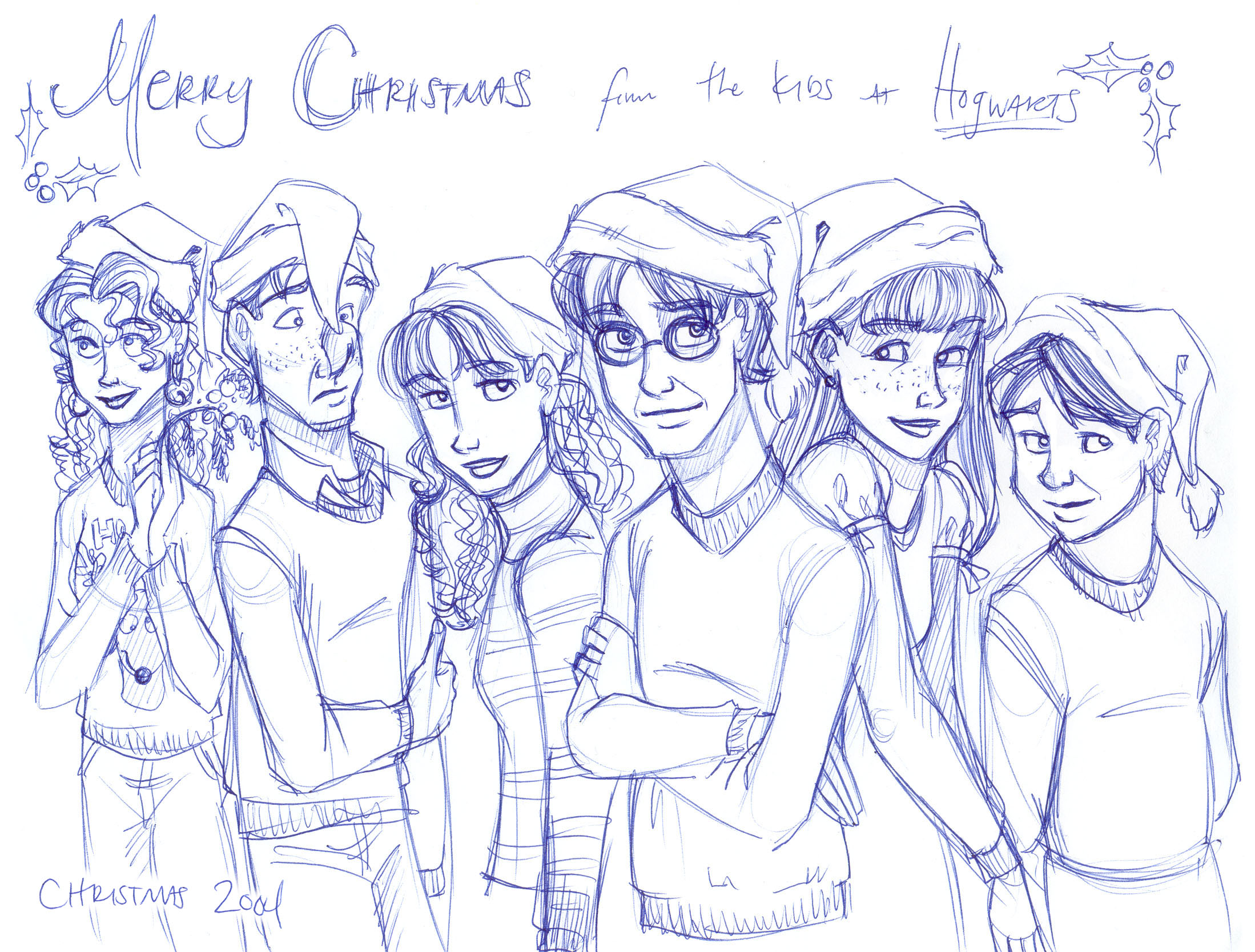 A Christmas greeting from the kids at Hogwarts