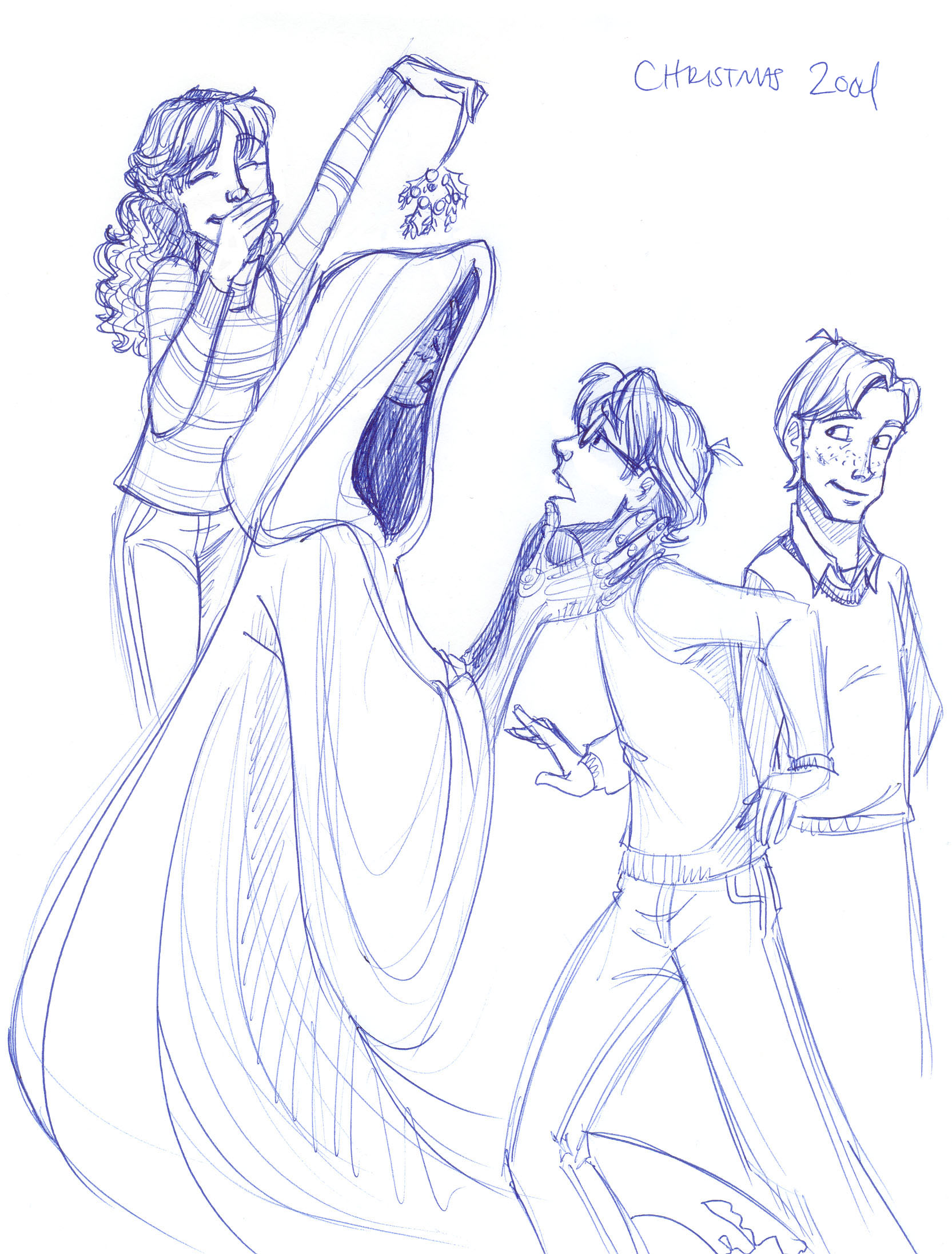 Hermione, Ginny and Ron play an unfunny Christmas prank on Harry...