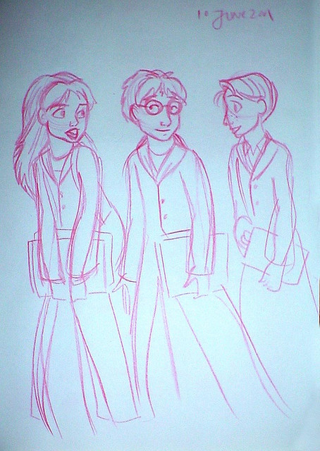 An early drawing of the trio