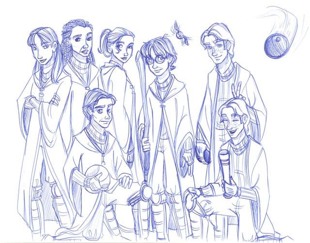 Harry's original Gryffindor Quidditch Team