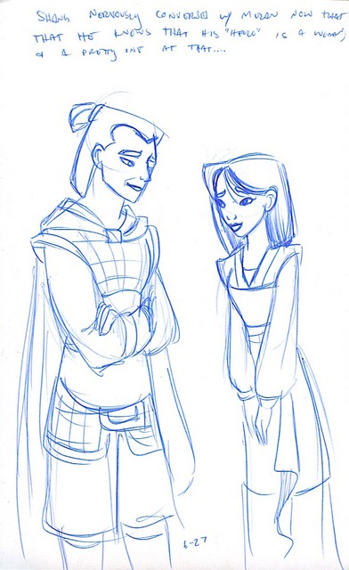 Mulan and Shang chat...