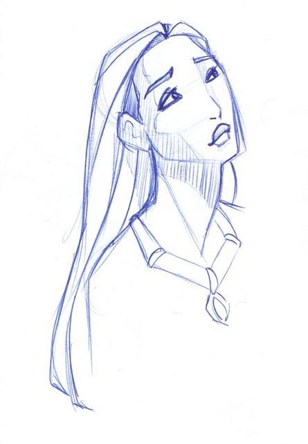 Pocahontas looks up wistfully
