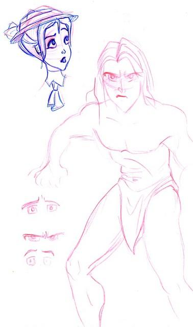 Tarzan and Jane drawings