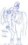 Tarzan's best friends, the neurotic, friendly Tantor and the fun-loving, loyal Terk