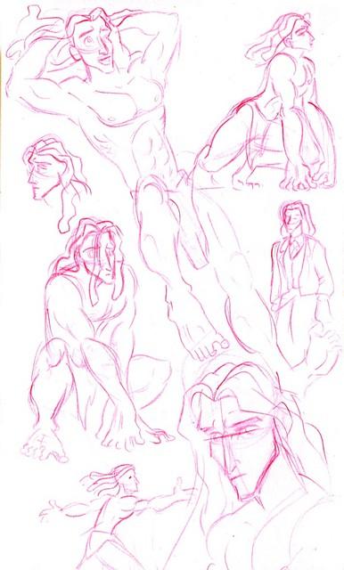 Sketches of Tarzan