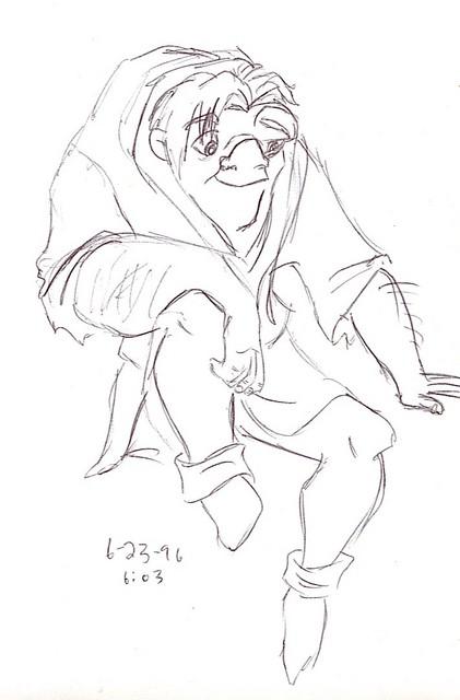 Quasimodo sits