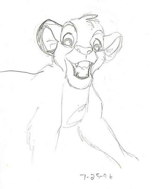 Simba as a precocious cub